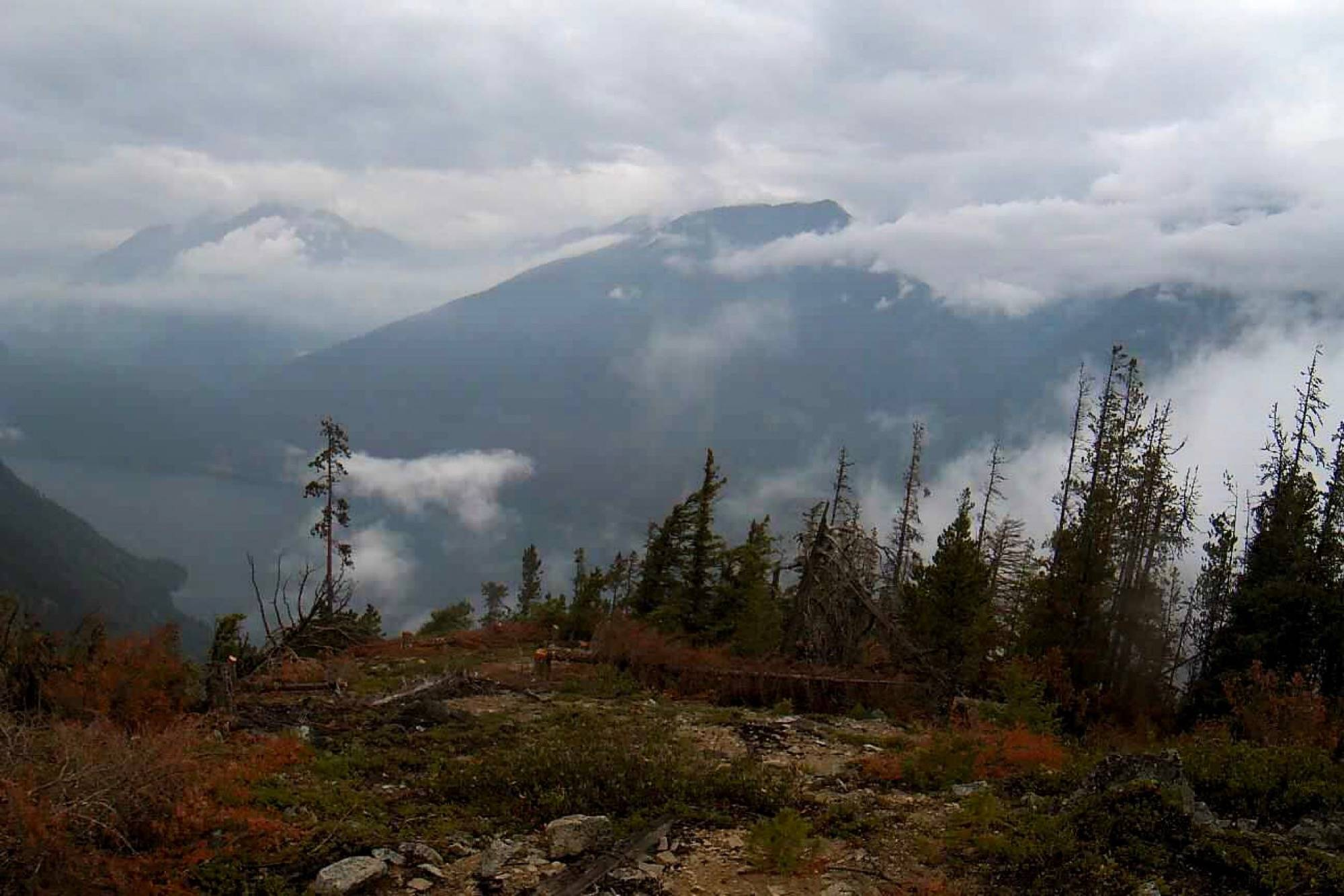 Cooler weather and a bit of rain helped firefighters keep the Grouse Creek fire away from structures. (BC Wildfire)